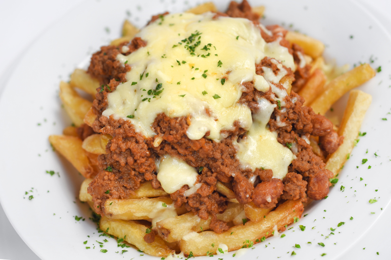 MINCE MEAT & CHEESE FRIES