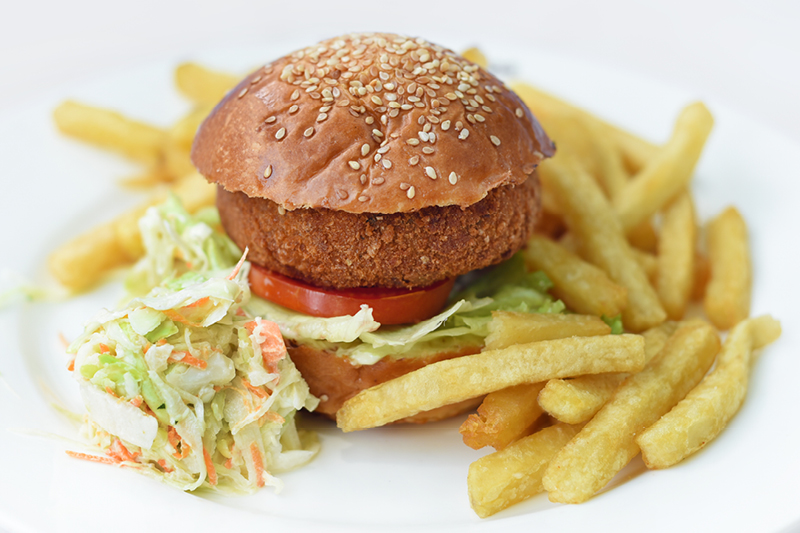 KIDDIE VEGGIE BURGER & FRIES