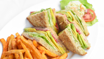 TOMATO CHS AND AVOCADO SANDWICH